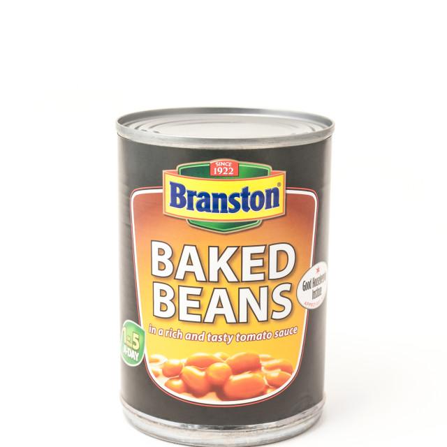 """""""Branston Baked Beans"""" stock image"""