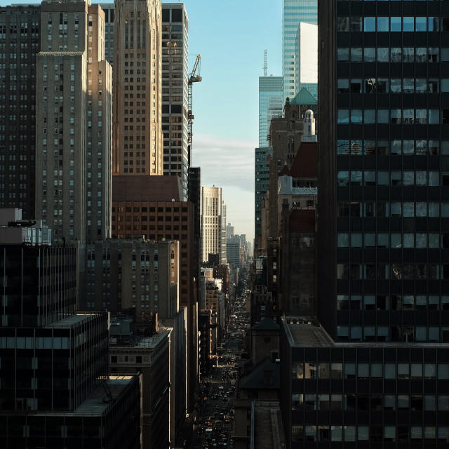 """NYC morning light"" stock image"