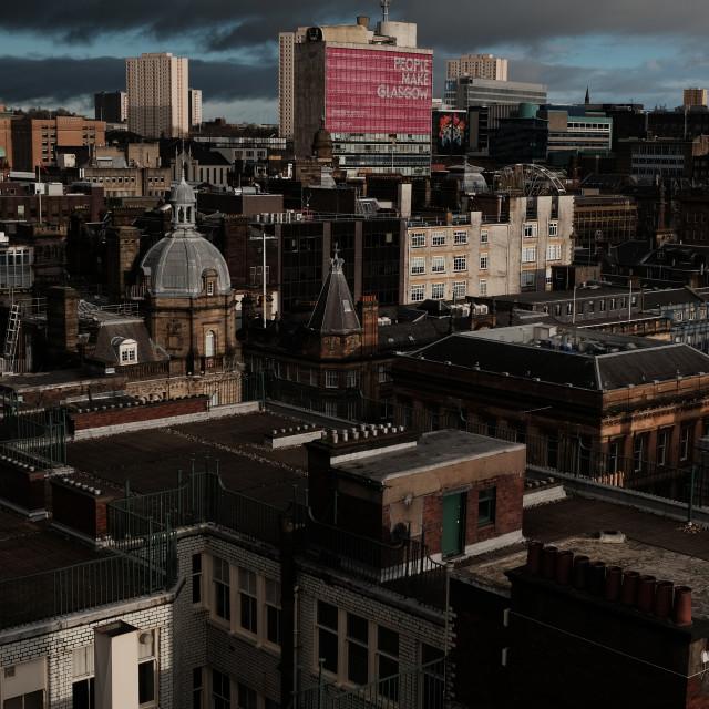 """People make Glasgow"" stock image"