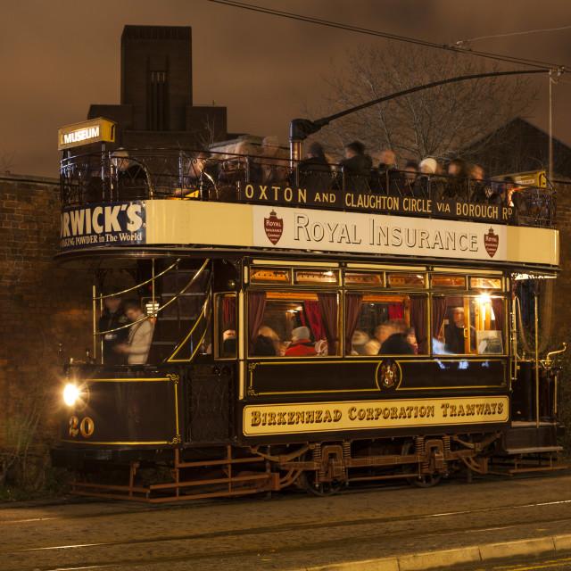 """Birkenhead Tram 20"" stock image"