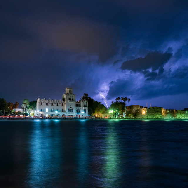 """Kos island under thunderstorm"" stock image"