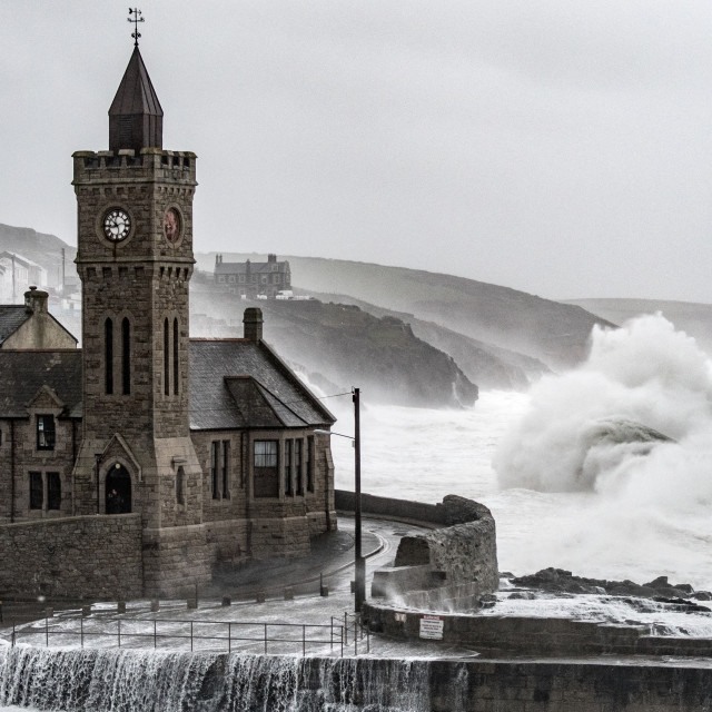 """""""Church Tower Storm"""" stock image"""