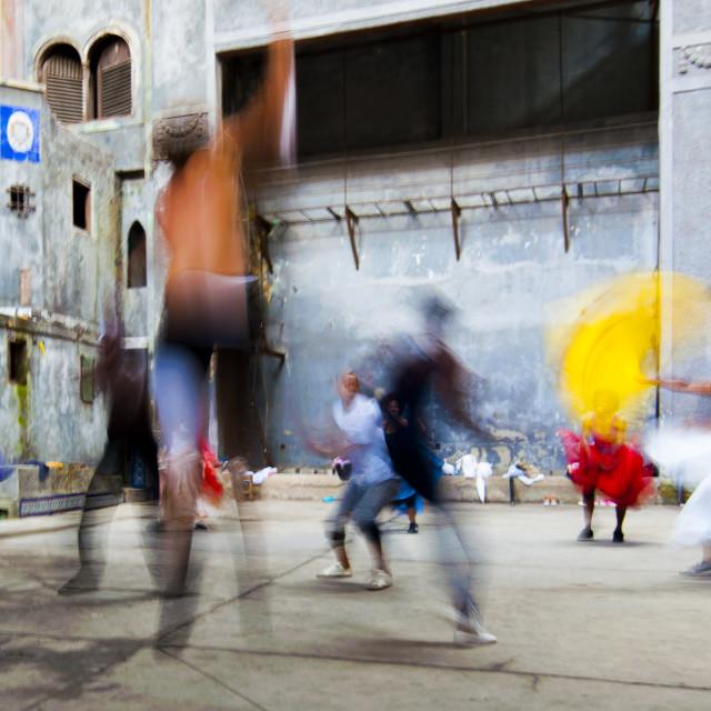 """""""Afro-Cuban Dancers in Havana"""" stock image"""