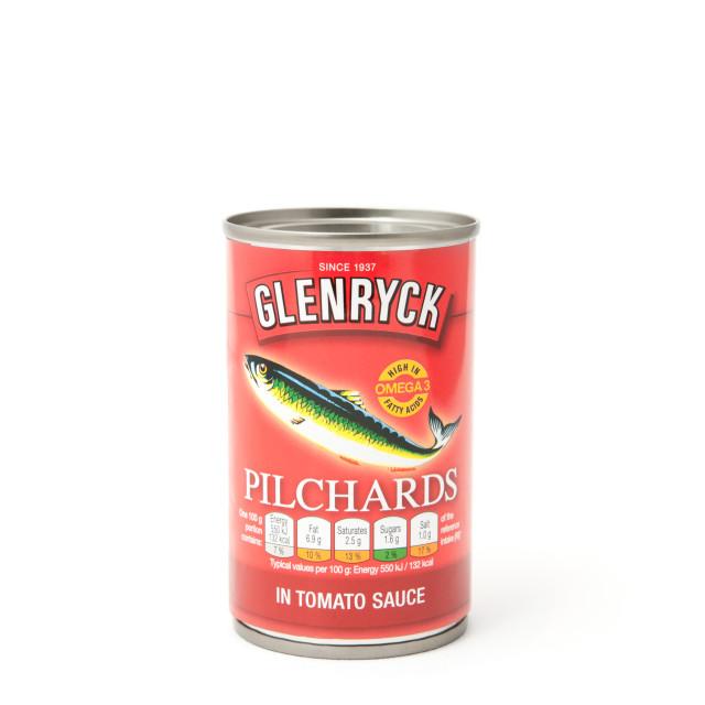 """Glenryck canned Pilchards"" stock image"