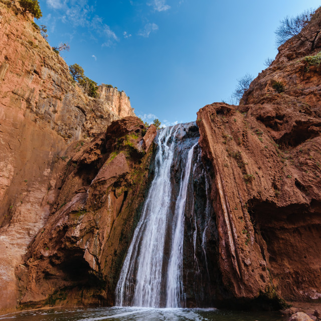 """Sources Oum er- Rbia, Aguelmam Azigza National Park, Morocco"" stock image"