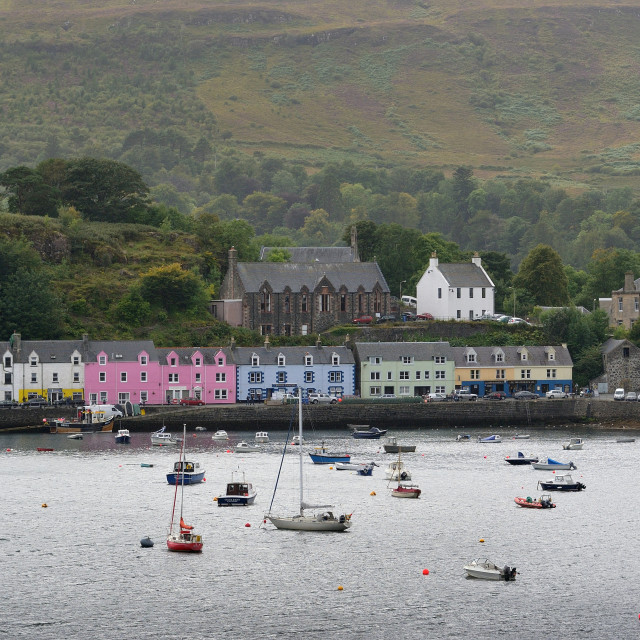 """The harbour at Portree - Isle of Skye"" stock image"