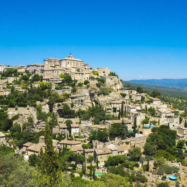 """Village of Gordes, one of the most beautiful in the Provence"" stock image"
