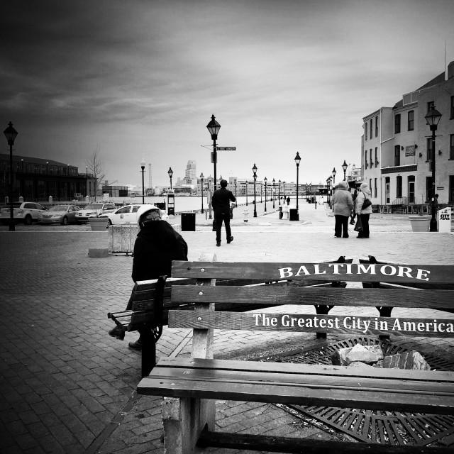 """Baltimore harbor"" stock image"