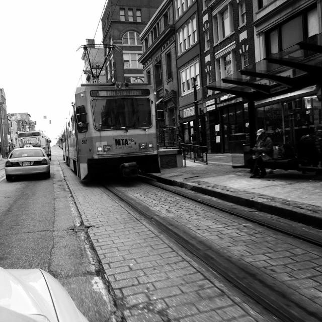 """Baltimore tram car"" stock image"