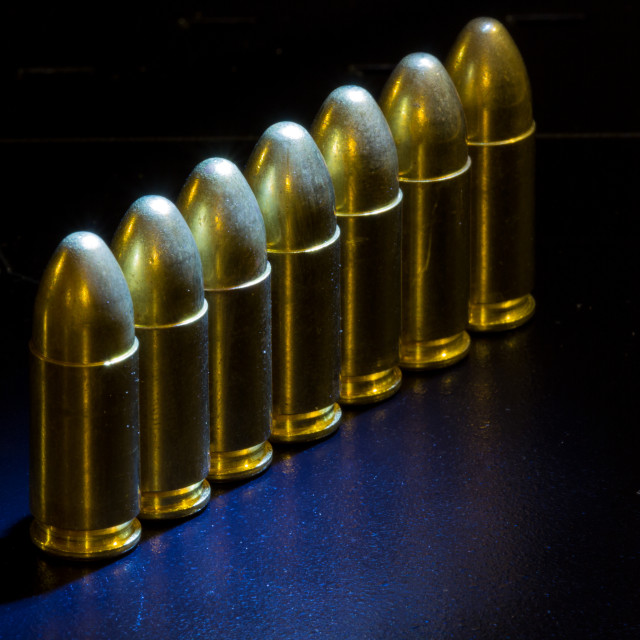 """""""bullets lined up"""" stock image"""