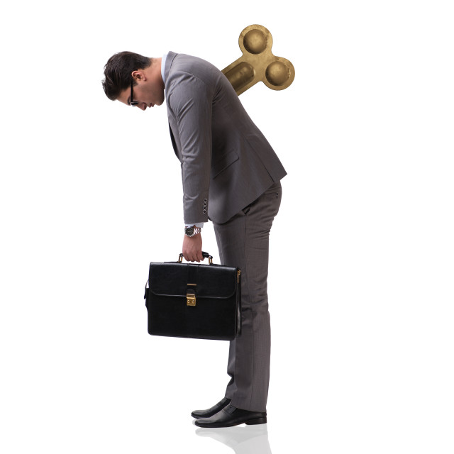 """""""Businessman with key in hardworking concept"""" stock image"""
