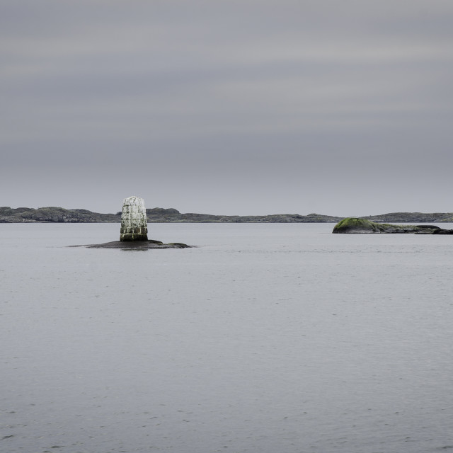 """one navigation mark on sweden westcoast"" stock image"