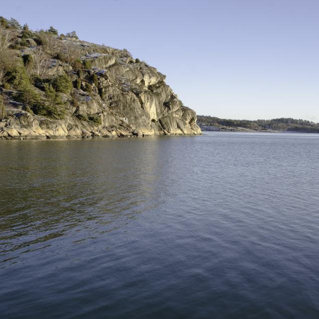 """""""swedsih westcoast the rock outside Skapesund"""" stock image"""