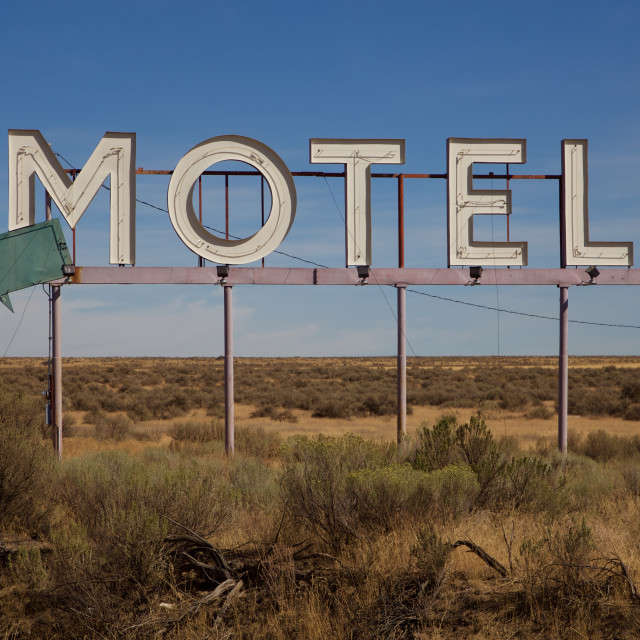 """Motel sign"" stock image"