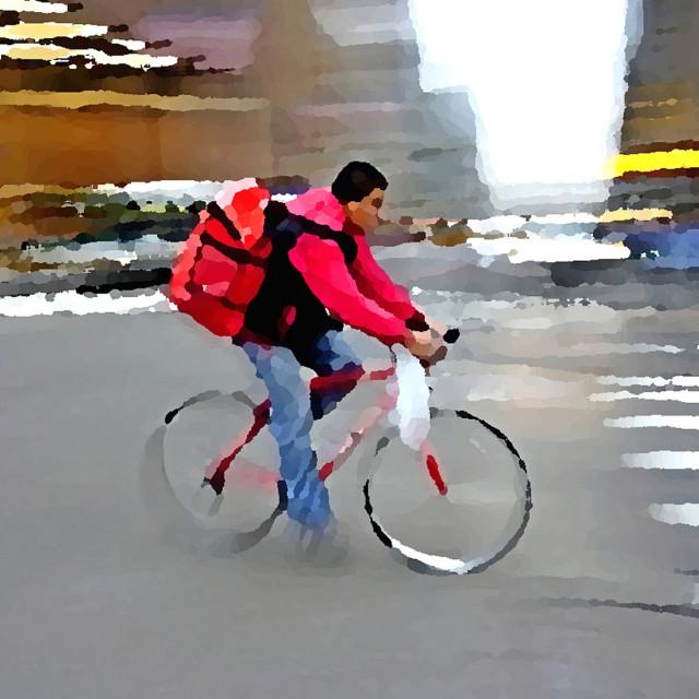 """Bicyclist"" stock image"