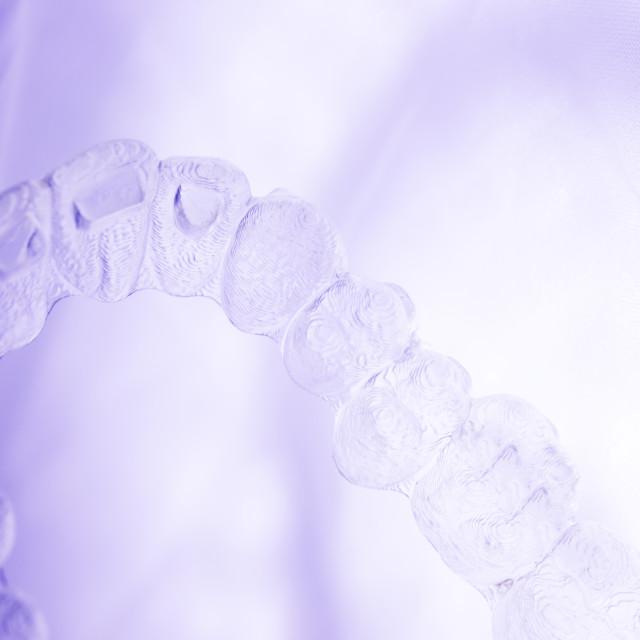 """Invisible aligner teeth retainer"" stock image"