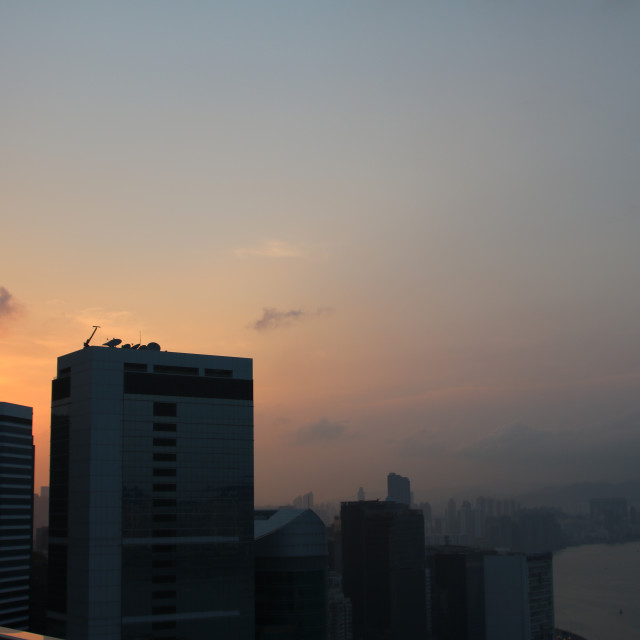 """Hong Kong Sunset"" stock image"