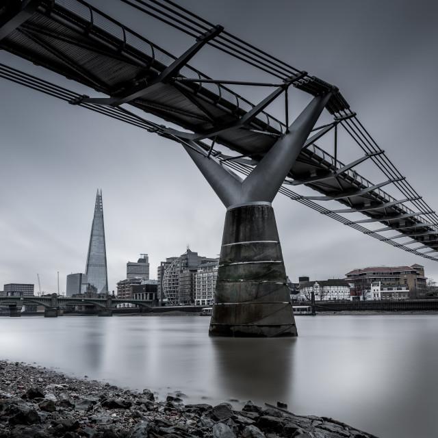 """""""Millenium Bridge, London"""" stock image"""