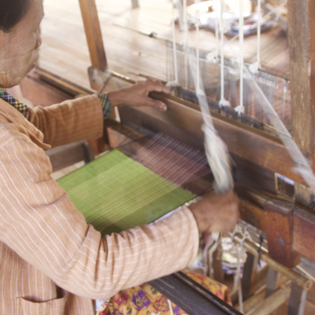 """Traditional Weaving"" stock image"