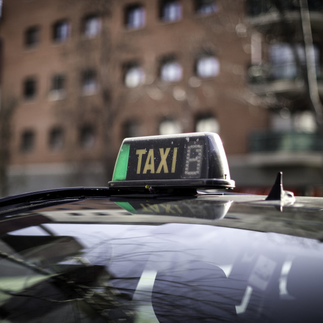 """Taxi in the City"" stock image"