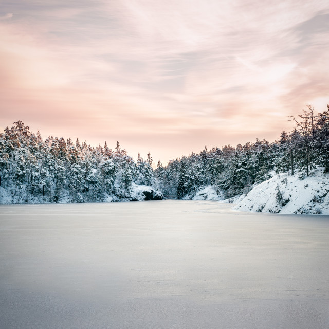 """Nordic Winter Landscape"" stock image"