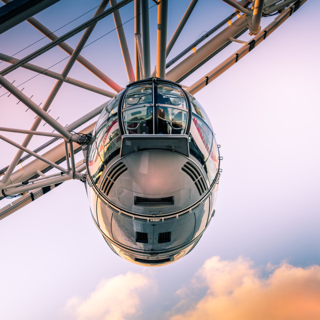 """London Eye Pod"" stock image"