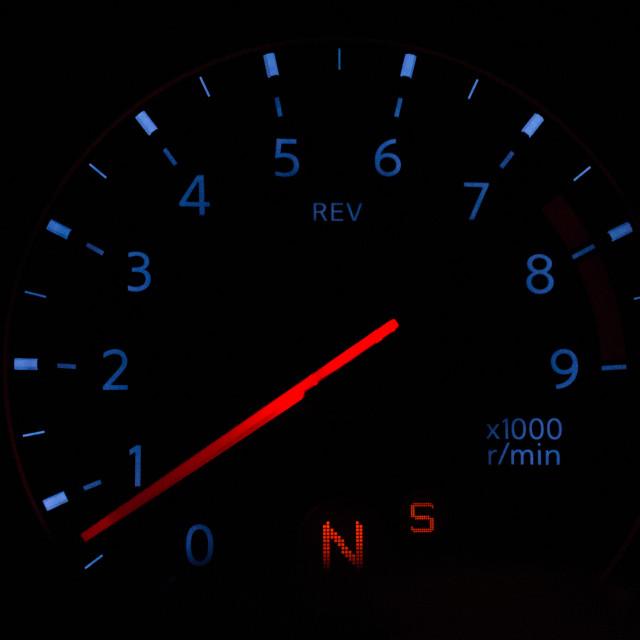 """Car rev counter"" stock image"