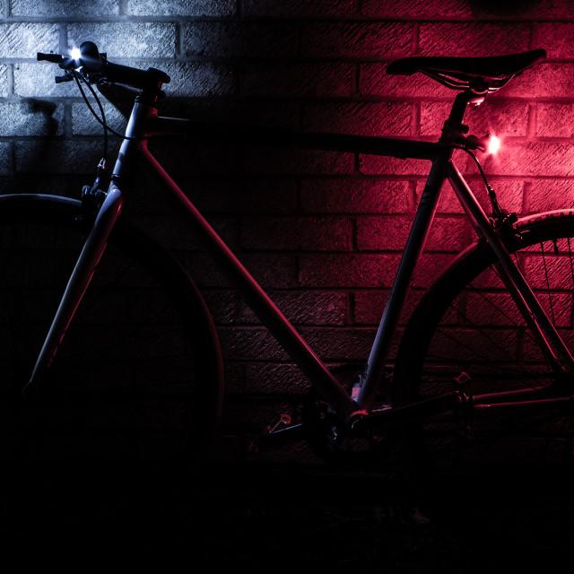 """Bike & lights"" stock image"