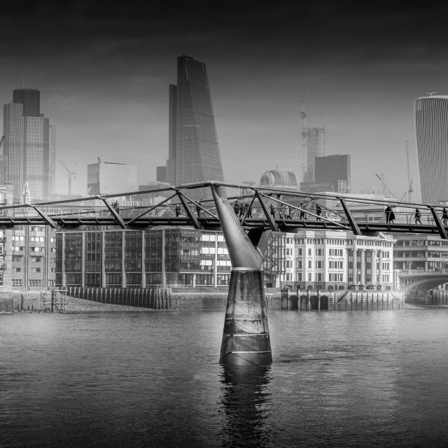 """Millennium Bride London"" stock image"