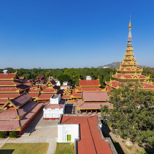 """""""Mandalay Palace Aerial View"""" stock image"""