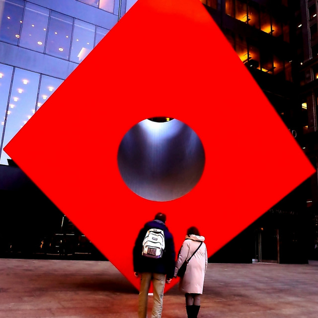 """The Red Cube"" stock image"