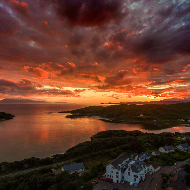 """Sunset over Morar"" stock image"