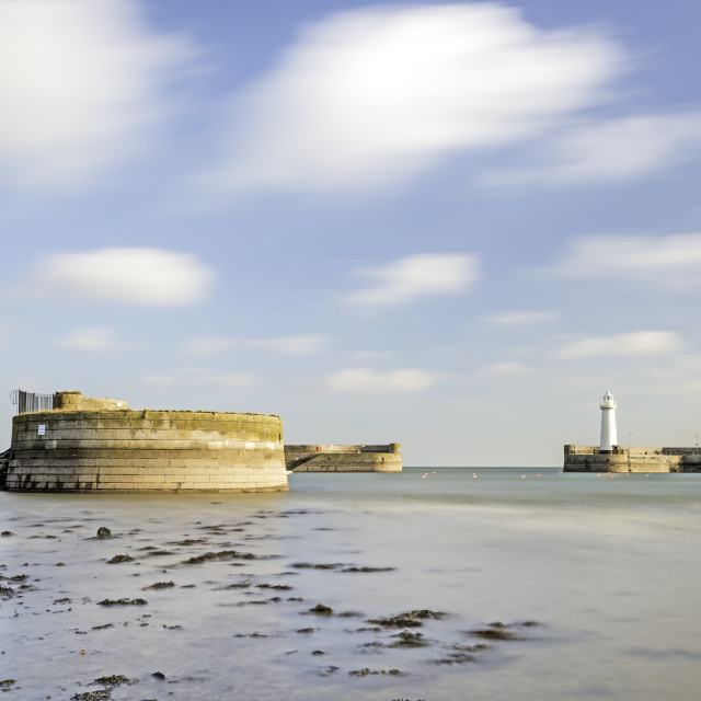 """Donaghadee Harbour"" stock image"