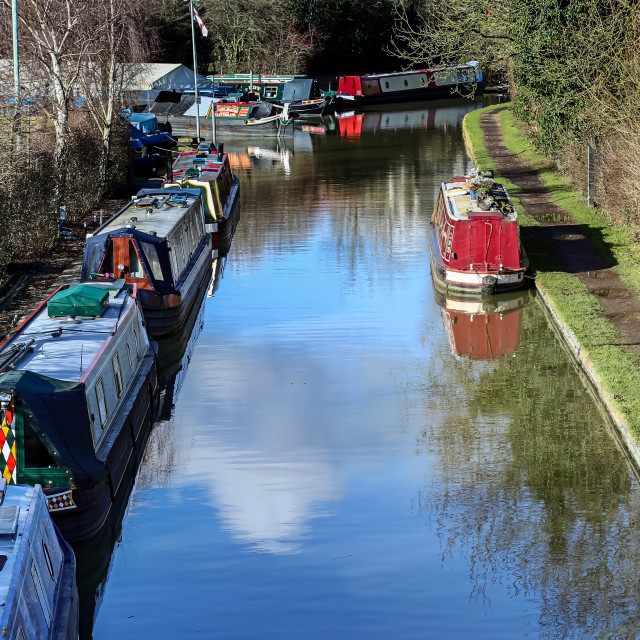 """""""A walk along the towpath"""" stock image"""