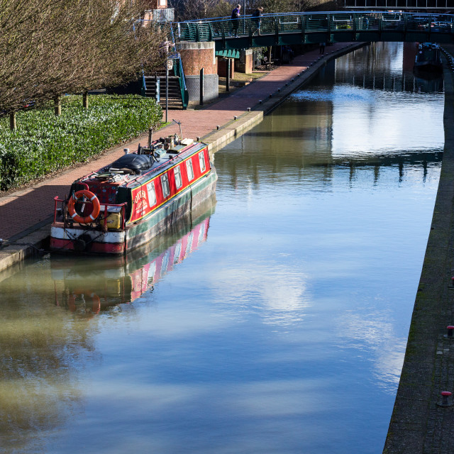 """""""The Canal between the car parks"""" stock image"""