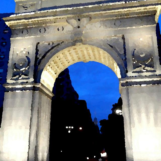 """Washington Square Arch"" stock image"