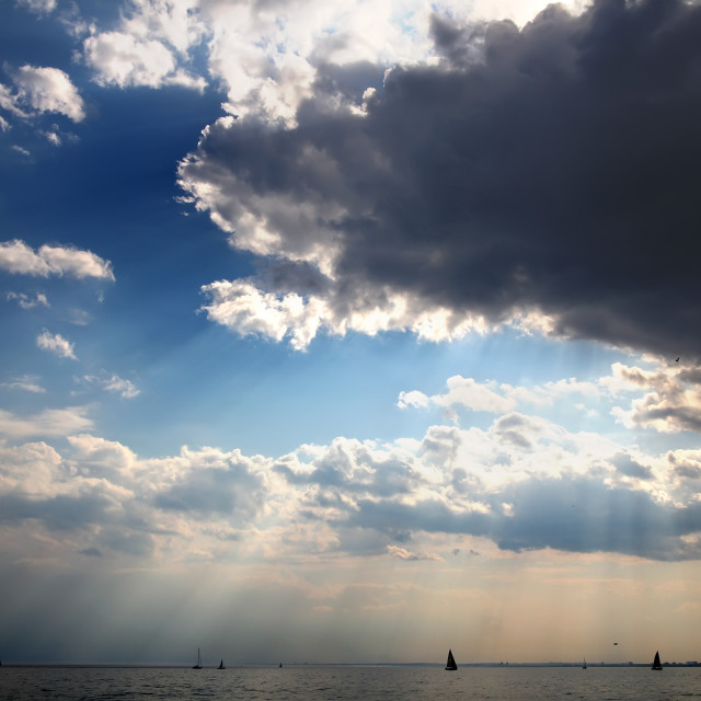 """""""Clouds and Lake"""" stock image"""