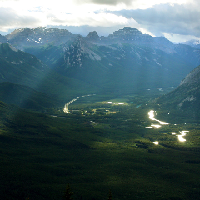 """""""Mountains and Valley"""" stock image"""