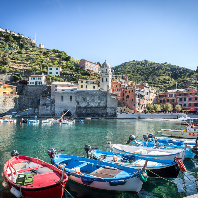 """Vernazza Waterfront"" stock image"
