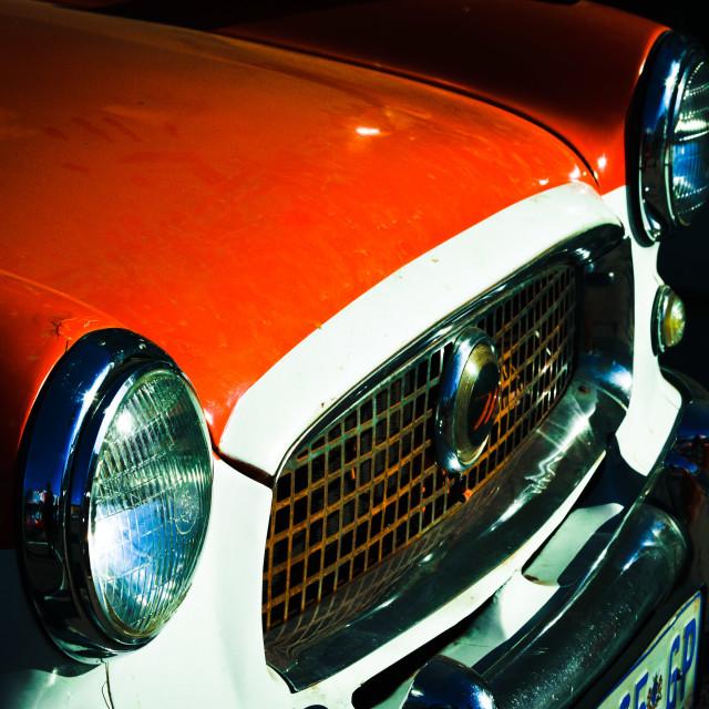 """RED Vintage car"" stock image"