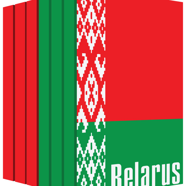 """""""Set of books about Belarus"""" stock image"""