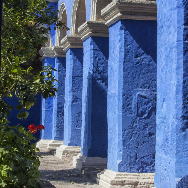 """Blue monastery"" stock image"