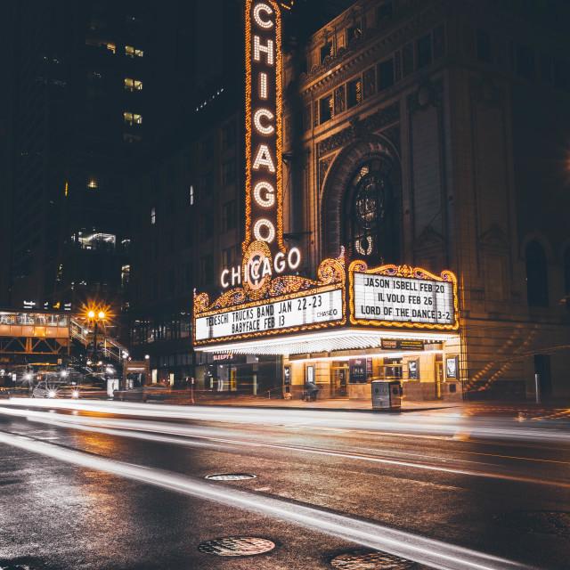 """Chicago Theatre"" stock image"