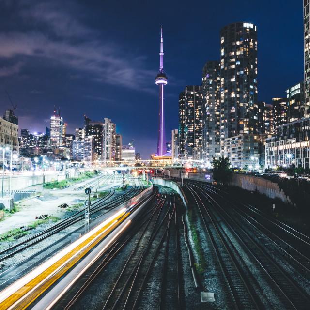 """""""Toronto at Night"""" stock image"""