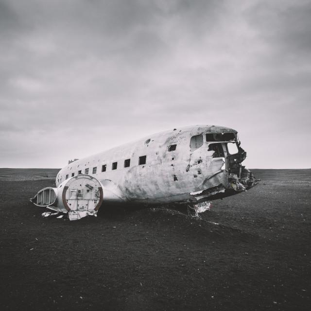 """""""Plane Iceland"""" stock image"""