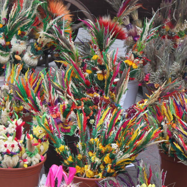 """Easter palms, Kraków"" stock image"