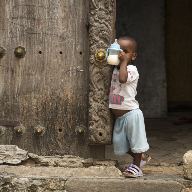 """Editorial use only. Children in Africa face poor life conditions and health..."" stock image"