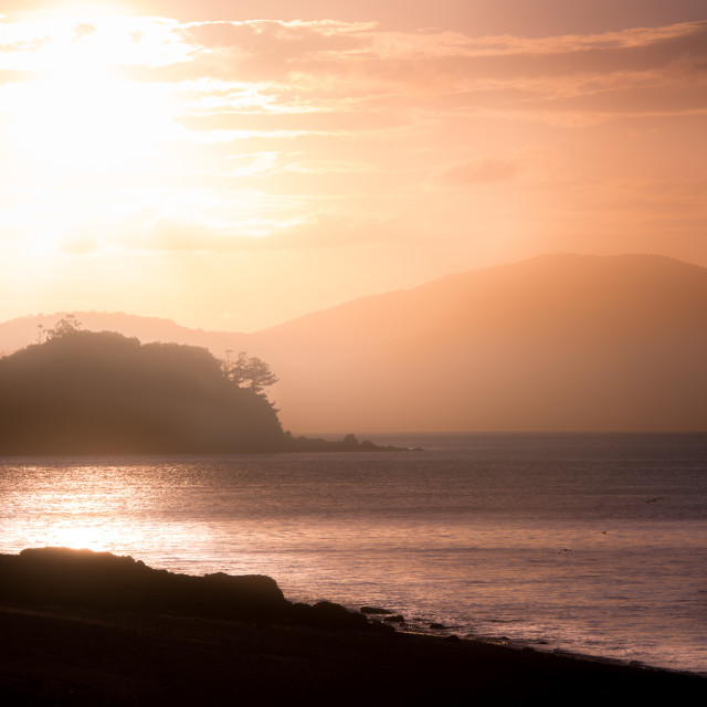 """Pebble Beach Sunset"" stock image"