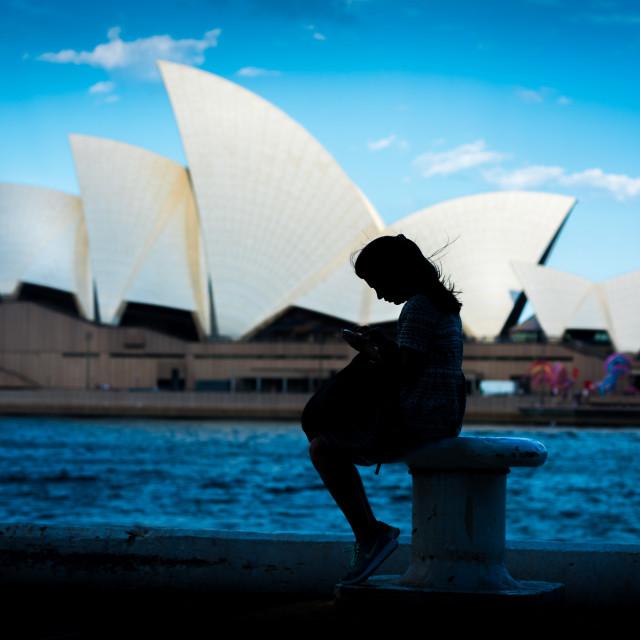 """Sydney Silhouette"" stock image"