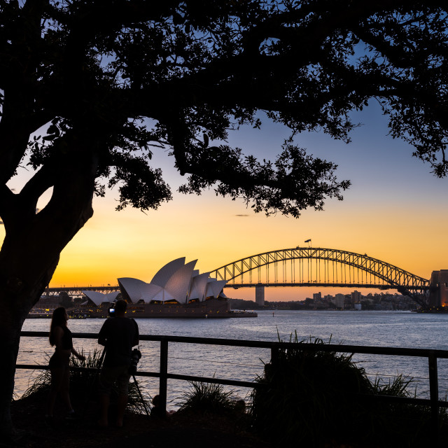 """Sydney Sunset"" stock image"